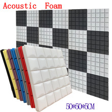 Espuma acústica de estudio de 8 colores 4 Uds. 50x50x5cm espuma insonorizada Panel de tratamiento de absorción de sonido esponja protectora de cuña de sonido