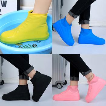 Dla dorosłych deszcz pokrowce na buty kobiety mężczyźni chłopiec dziewczyny pokrowce przeciwdeszczowe na buty wodoodporny składany Slip chronić buty do wody pokrowce na buty na deszcz tanie i dobre opinie piyalodocpe Reusable Buty covers Stałe Poliester