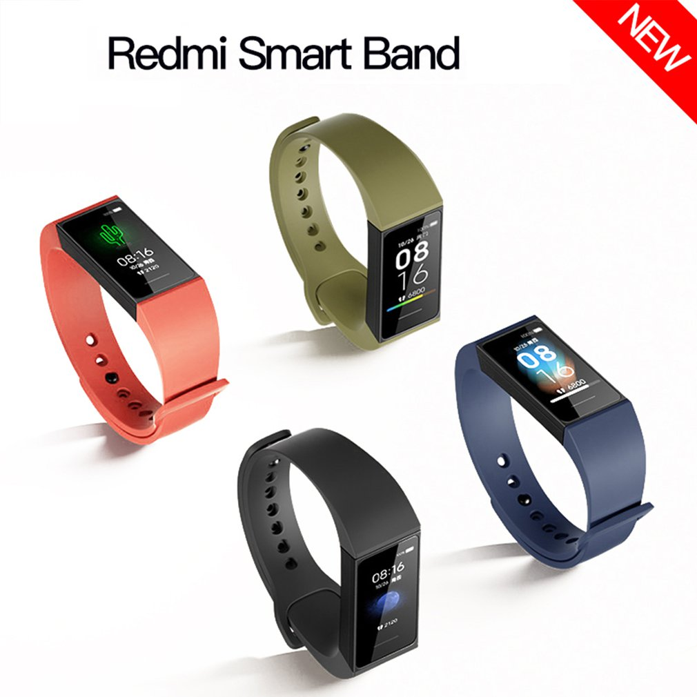 """In Stock Xiaomi Redmi Band Smart Wristband Fitness Bracelet Multiple Face 1.08"""" Color Touch Screen 14days 2020 redmi smart band"""