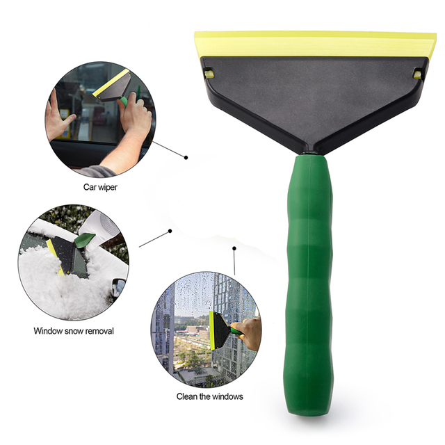FOSHIO Handle Squeegee for Car Cleaning Tool Water Wiper Snow Shovel Ice Scraper Carbon Fiber Vinyl Wrap Window Tint Tool Washer