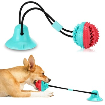 Pet Dog Toys Silicon Suction Cup Tug  1