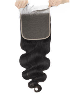 Queenlike Lace Closure Baby-Hair Body-Wave Pre-Plucked 7x7 Brazilian Hairline with Natural