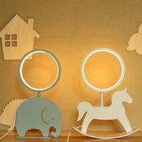 Animal LED Night Light for Children Trojan Elephant Kids Night Lamp USB Baby Bedroom Bedside Lamp Lamp for Kid Xmas Gift Home