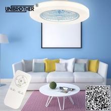 Бесшумный потолочный вентилятор с дистанционным управлением, светильник 58 см, приложение для телефона, умные вентиляторы, лампа 2,4G, запуск, беспроводной, хороший сон, 110 В, 220 В