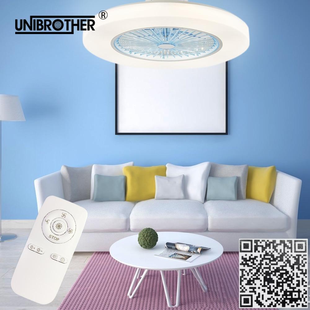 controle remoto silencioso ventilador de teto com luz 58cm telefone app inteligente fas lampada 2 4g