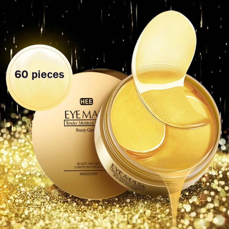 60pcs Gold/Seaweed Collagen Eye Mask Face Anti Wrinkle Gel Sleep Gold Mask Eye Patches Collagen Moisturizing Eye Mask Eye Care