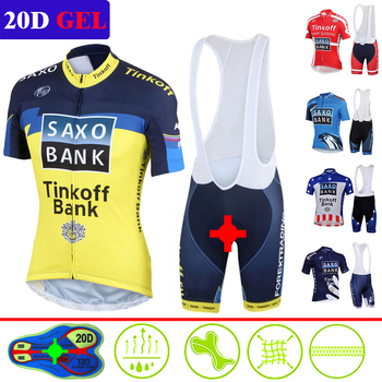Pro verano Tinkoff Ciclismo Jersey Set Ropa de bicicleta de carreras hombre...
