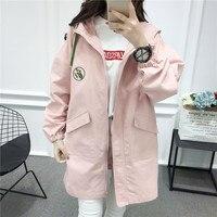 Milinsus Fall Winter 2019 Women Trench Coats Loose Medium Long Length Outwear Overcoat New Korean Windbreaker Casaco Feminino