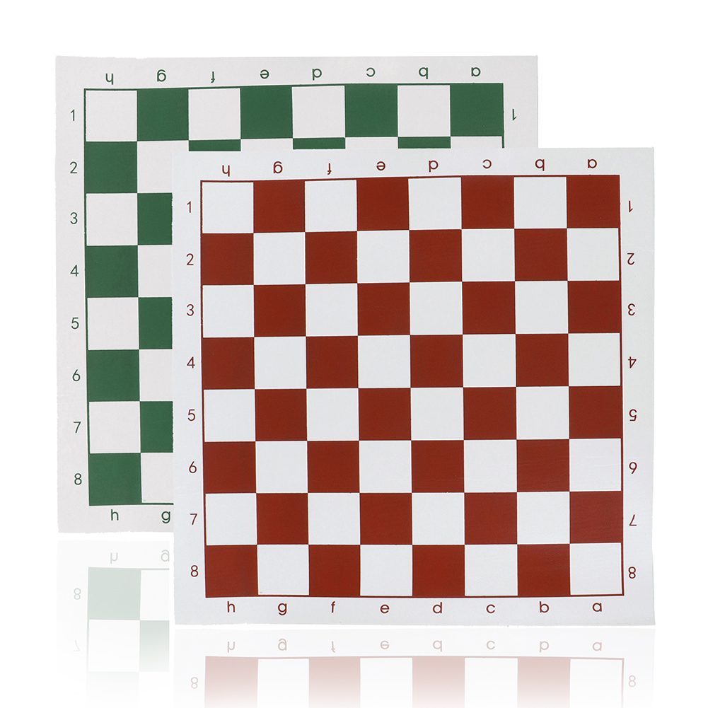 34.5x34.5cm/42x42cm PVC Leather Tournament Chess Board For Children's Educational Games  #284464