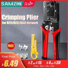 Samzhe Krimpen Tang Draad Tracker RJ11/12/45 Kabel Crimper Strippen Voor 6P/8P Ethernet En Telefoon kabel Maken