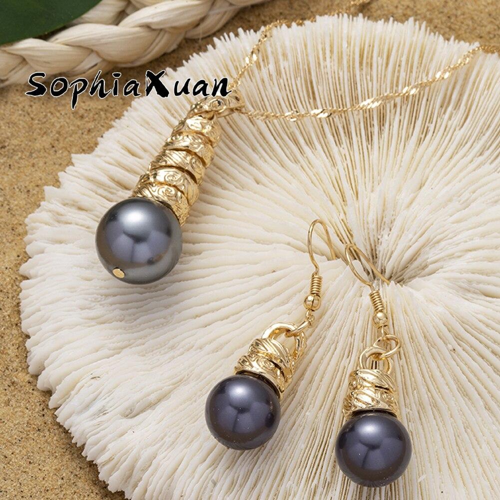 Hawaiian Earrings and Necklace Set