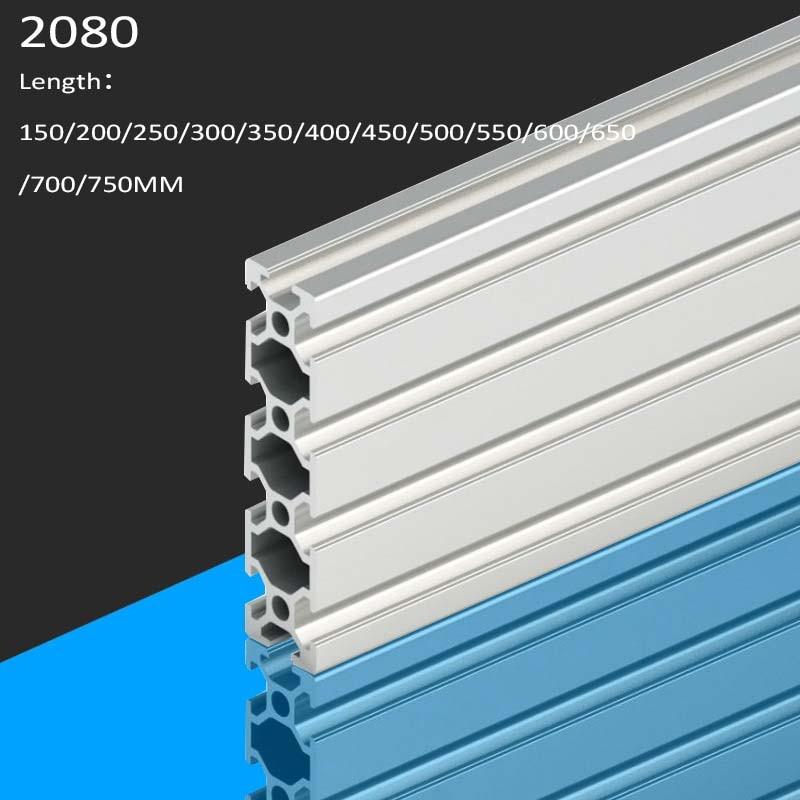 3D Printer Parts 2080 Aluminum Profile European Standard Anodized Linear Rail Aluminum Profile 2080