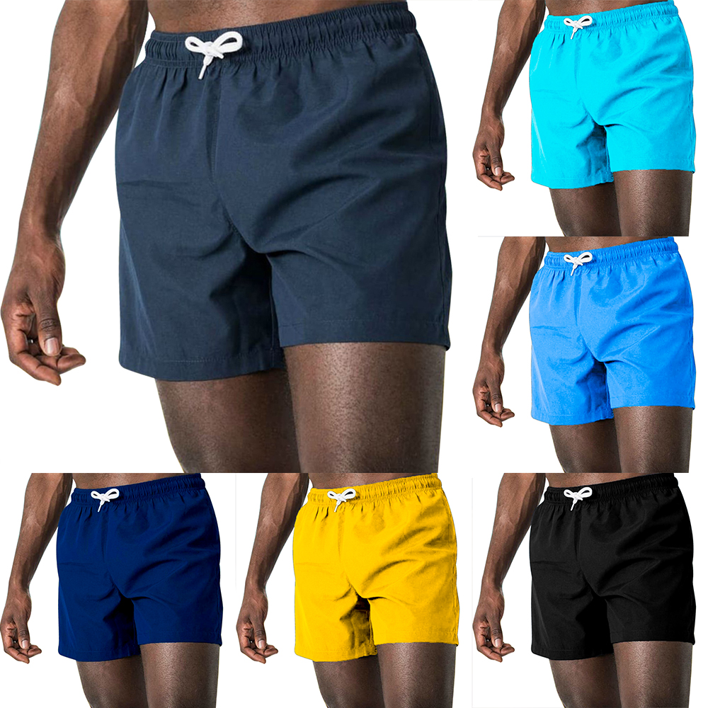 2020 New Summer Casual Shorts Solid Plus Size Quick Drying Fitness Male Short Pants Men's Cotton Fashion Beach Shorts Streetwear