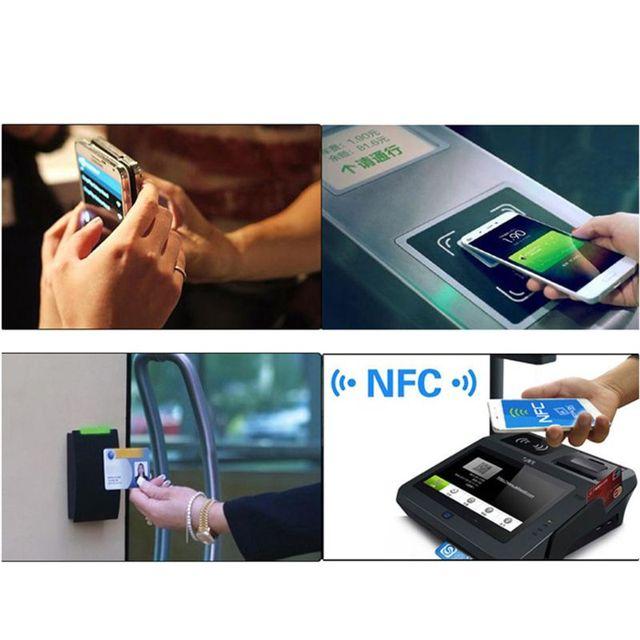 Купить черные универсальные металлические наклейки nfc ntag213 6 шт картинки