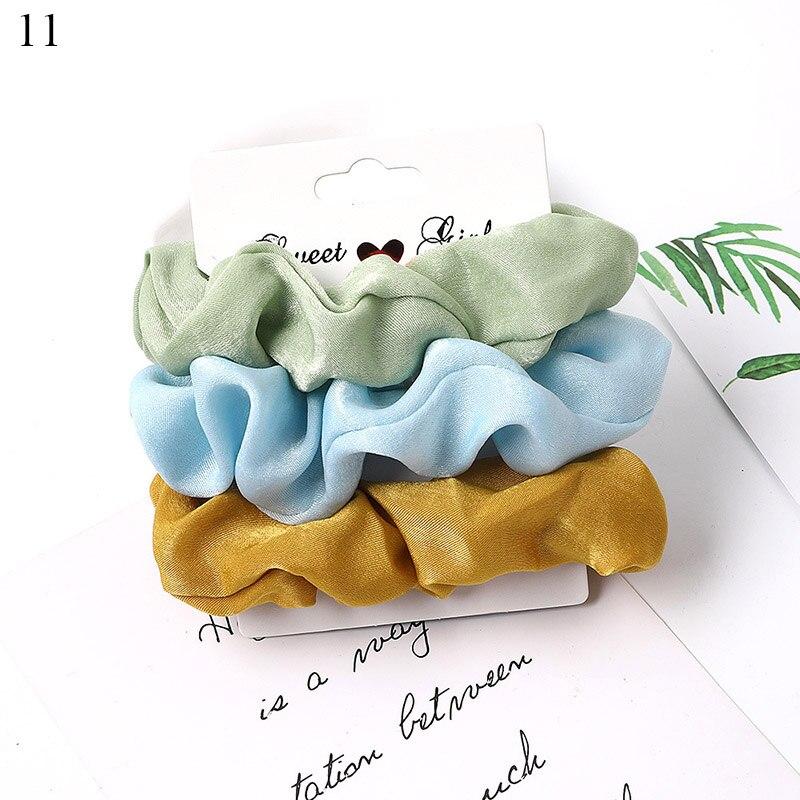 1 комплект резинки для волос кольцо для волос карамельного цвета Веревка для волос осень-зима женский хвостик аксессуары для волос 4-6 шт. ободки для девочек Подарки - Color: A11