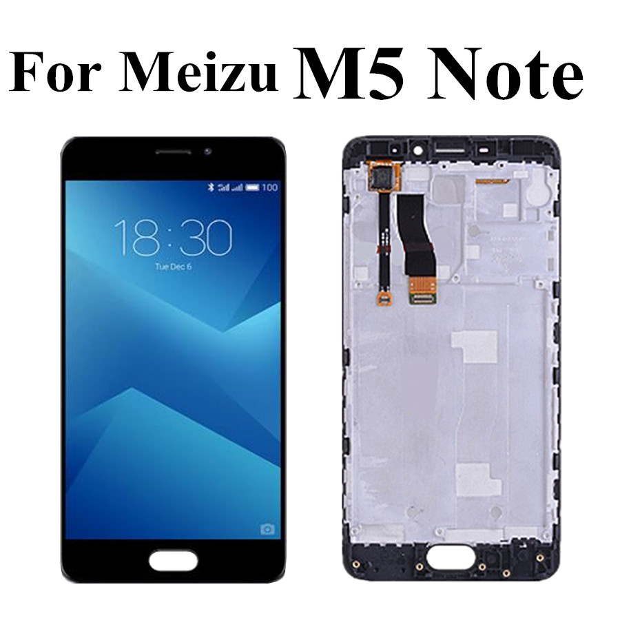 5.5 inch For Meizu M5 Note LCD Display for Meilan Note 5 <font><b>M621Q</b></font> M621M M621C M621H LCD Screen Touch Panel Digitizer With Frame image