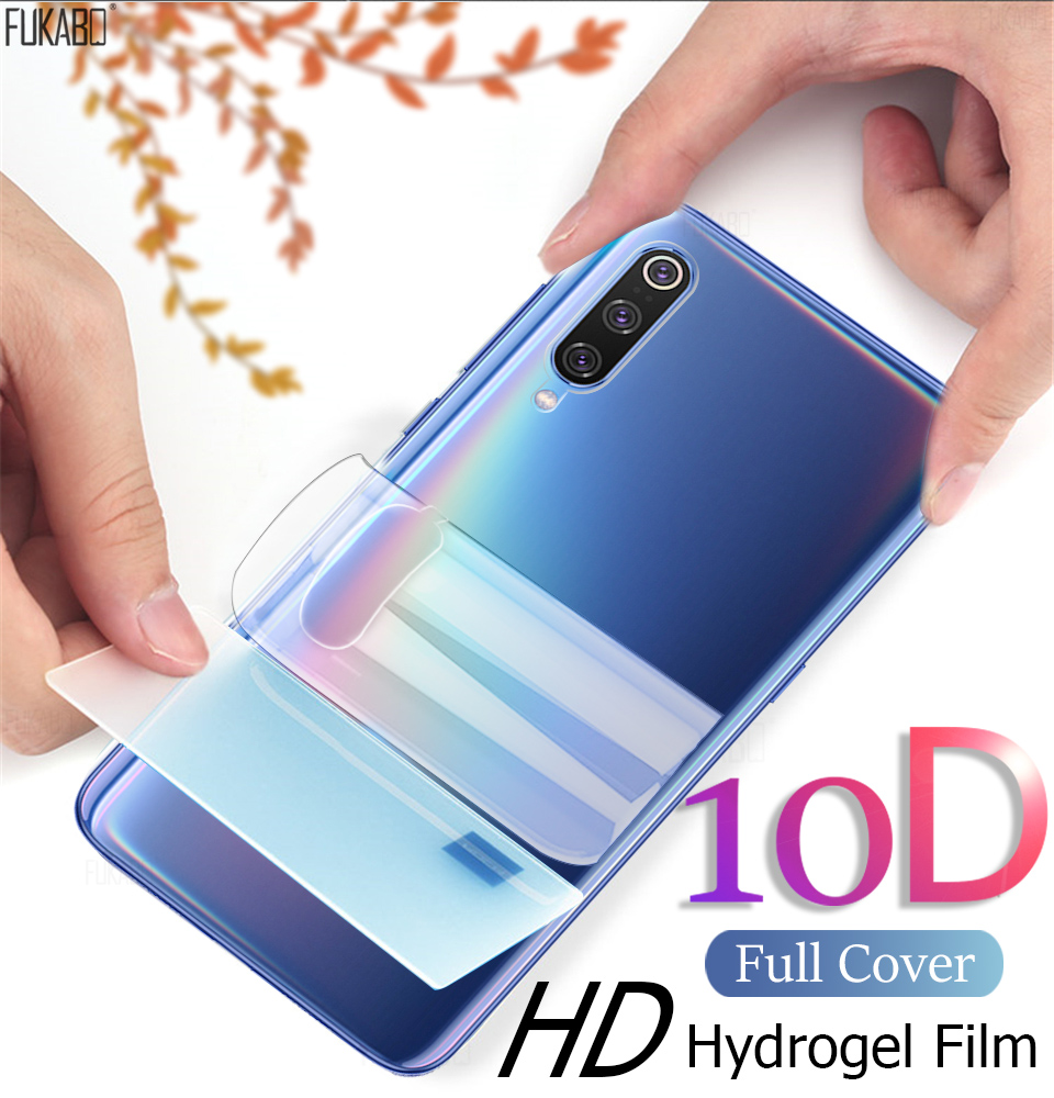 10D Front & Back Hydrogel Film For Xiaomi Redmi mi Note 10 Pro Lite 9 SE Screen Protector For mi 9t 10 Pro 8 9 Lite A2 Not Glass(China)