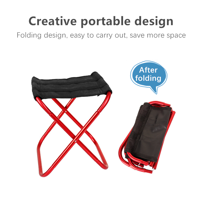 High-quality Outdoor Foldable Fishing Chair Light Weight Portable Folding Camping Aluminum Alloy Picnic Fishing Chair With Bag image