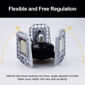Image 3 - 100W 80W 60W E27 LED Lamp 110V 220V LED Bulb Deformable High Power Smart Light For Warehouse Factory Garage Basement Gym