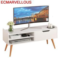 Malowanie ekranu Madeira Para nowoczesne Soporte De Pie Riser Nordic drewniany stół Mueble podstawa monitora meble do salonu szafka Tv w Stojaki pod TV od Meble na