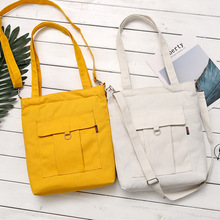 цена на Fashion Cotton Grocery Tote Shopping Bags Fashion Canvas Solid Recyclable Bag Simple Design Healthy Tote Hand Bag
