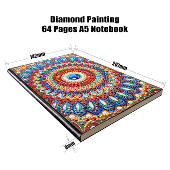 DIY Full Diamond Rhinestones Painting Diary Notebook Diamond Painting Special Shaped Drill Decor