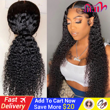 Curly Human Hair Wigs Natural Color Bleached Knots Brazilian Remy 13x6 Lace Front Human Hair Wigs With Baby Hair 150 Density Wig