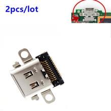 닌텐도 스위치 2 pcs 닌텐도 스위치 콘솔 수리를위한 원래 교체 타입 c 충전 포트 USB C 충전기 소켓 잭