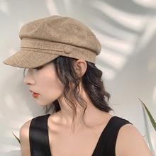 YOYOCORN Sun Fashion Unisex Linen Military Hat Autumn Sailor Hats For Women Men flat top captain Cap travel cadet hat navy Caps