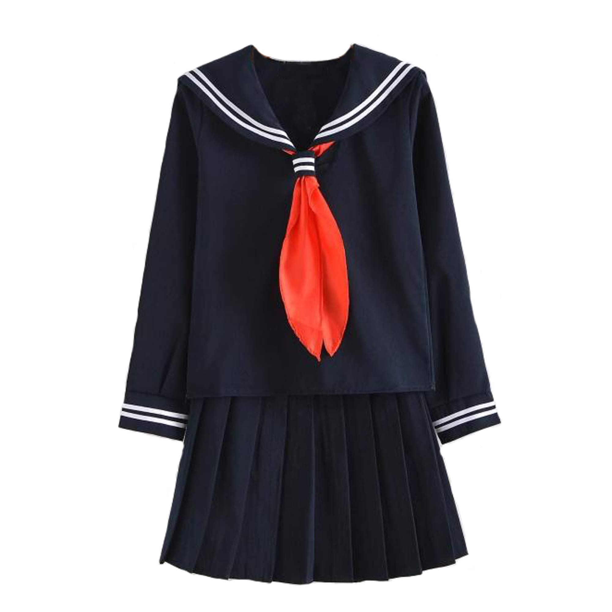 Japanese school uniform girls school class navy sailor school uniforms Hell Girl Enma ai Anime Cosplay girls suit with Socks image