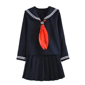Japanese school uniform girls school class navy sailor school uniforms Hell Girl Enma ai Anime Cosplay girls suit with Socks