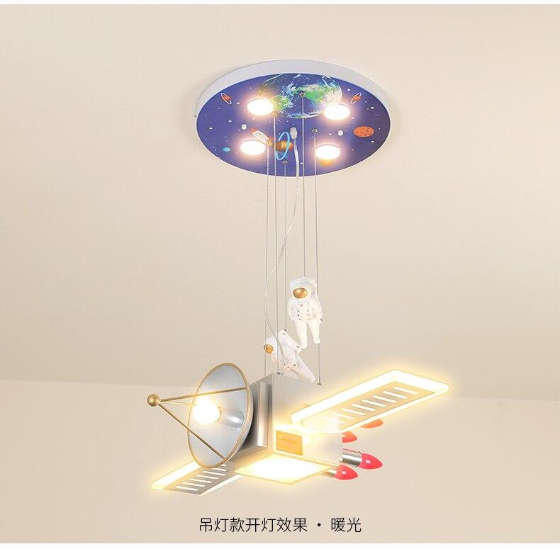 Estrela do espaço lâmpada menino criativo quarto