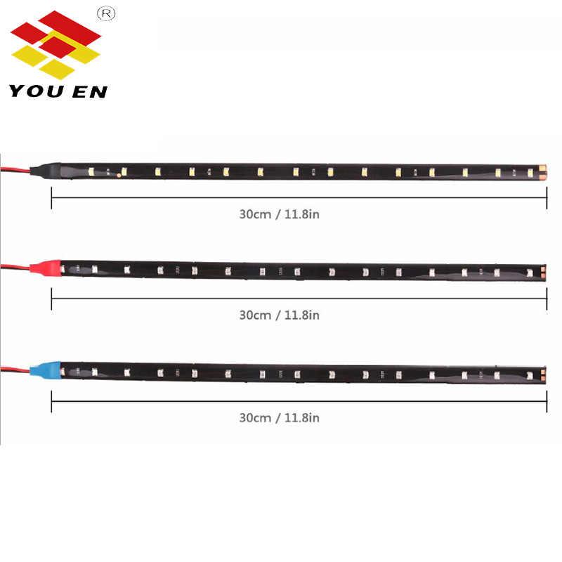 Youen 2 Cái/bộ 30 Cm 15LED Chống Nước Linh Hoạt Xe Tải Xe Tải Nướng Dải Sáng Thân Cây Đèn Trang Trí Dây Đèn LED Đèn Xe Ô Tô tạo Kiểu Tóc