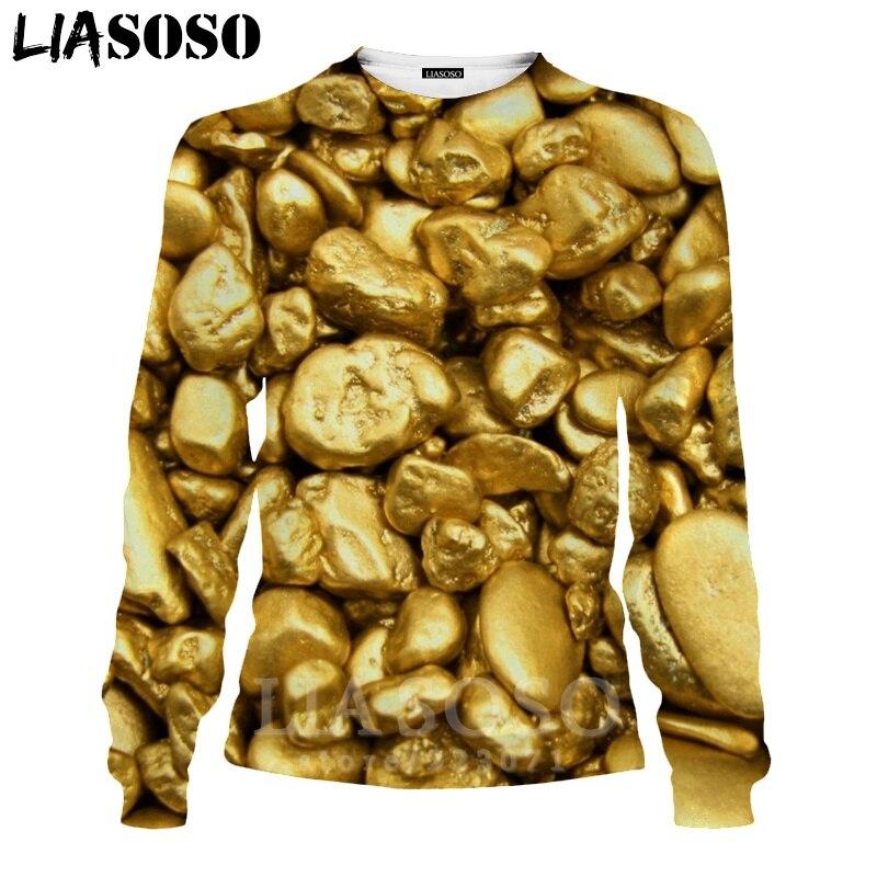 LIASOSO 3D Print Gold Sweatshirt Autumn Long Sleeve Glow Diamond Men`s Shirt Anime Women Fashion Tops O Neck Men Clothing D017-7 (13)