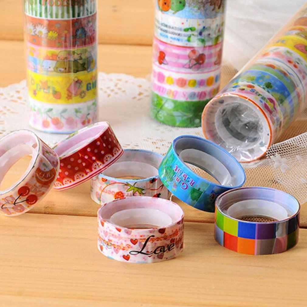Indah Kartun Tape Set Jepang DIY Kerajinan Kertas Tape untuk Dekoratif Scrapbooking Peluru Jurnal Planner
