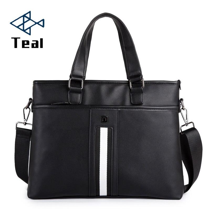 Men's Briefcase Bag Business Pu Leather Handbag For Men Shoulder Bags Large Man Briefcases For 14