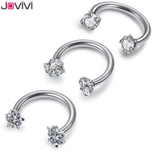 Jovivi – anneau en acier inoxydable, 16g, Nez, lèvres, sourcils, oreille, Septum, Cartilage, Helix, cerceau captif, Labret, Nariz, Aro, Nez, 8 à 12mm