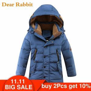 Image 1 -  30 תואר Down מרופדת ברווז מעילי החורף של ילדי בגדי ילדים 2017 בני עיבוי מעיל חם גדול הלבשה עליונה
