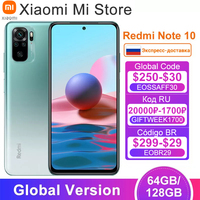 Global Version Xiaomi Redmi Note 10 Mobile 4GB RAM 64 / 128GB ROM Snapdragon 678 Octa Core 5000mAh Battery 33W Fast Charge 1