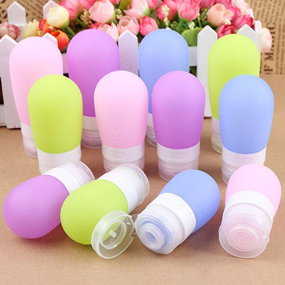 Hot Selling Portable Silicone Refillable Mini Traveler Packing Bottle Press Bottle For Lotion Shampoo Bath Accessories