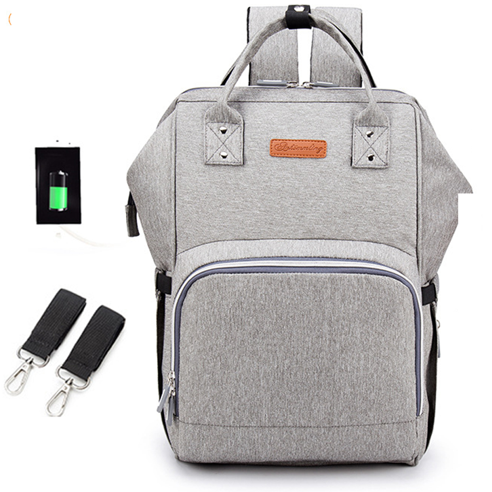 Baby Diaper Bag  USB Interface Large Mummy Bag Backpack Baby Care WaterProof Luiertas Mummy Maternity Baby Nappy Bag