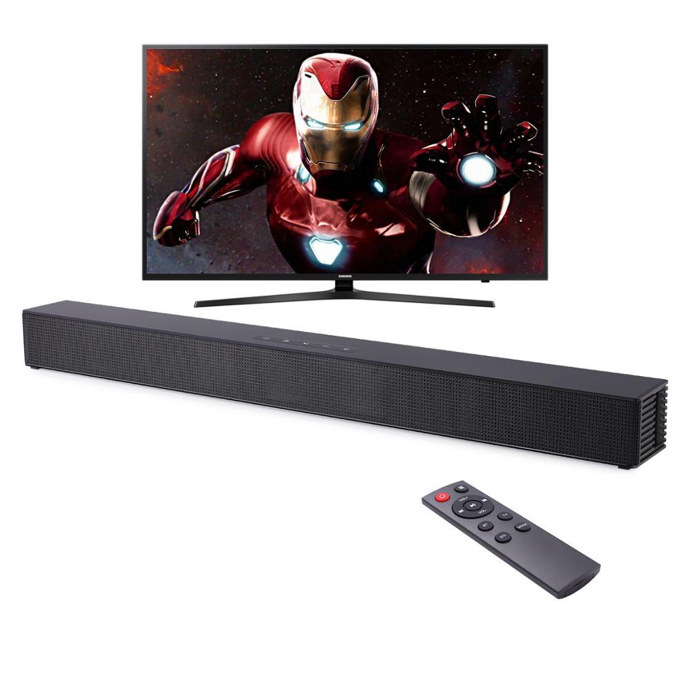 Barra de sonido montada en la pared para cine en casa, Altavoz Bluetooth compatible con HDMI Coaxial óptico, AUX, para TV y PC, 40W