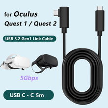 5M Data Line Charging Cable for Oculus Quest 2 Link VR Headset USB 3.1 Type C Data Transfer USB-A Type-C Cable VR Accessory