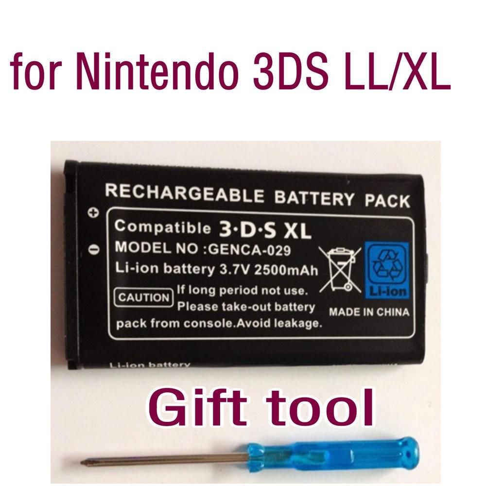 20pcs 3.7V 2000mAh /2500 MAh Rechargeable  Li-ion   Battery Pack   For 3DS LL XL