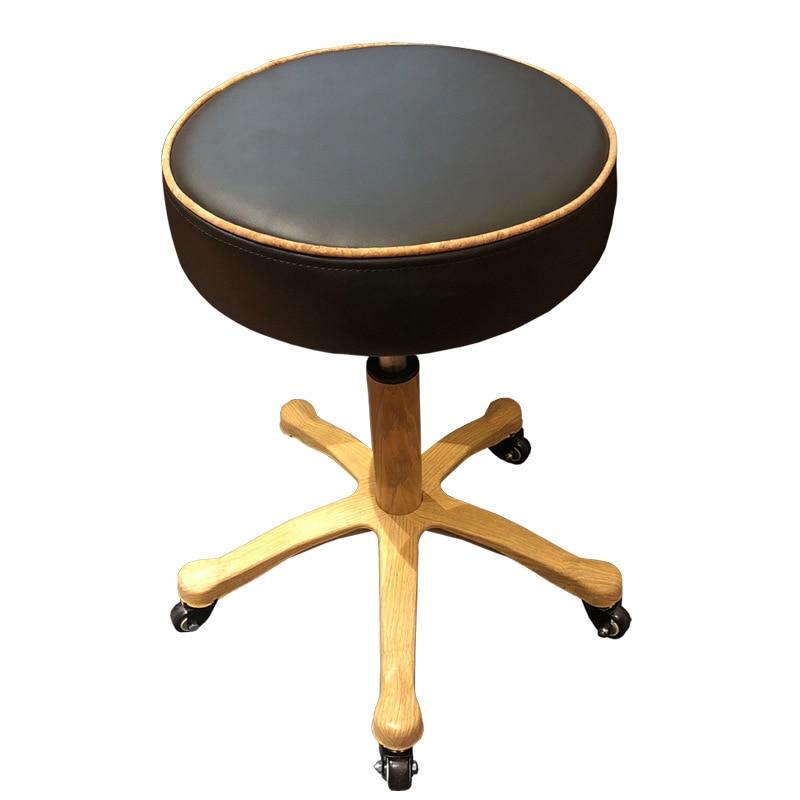 Beauty chair stool rotation lifting bar chair universal wheel technician beautician hairdressing stool manicurist stool