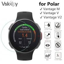VSKEY 100PCS Tempered Glass for Polar Vantage M Screen Protector Vantage V2 Smart Watch Scratch Resistant Protective Film