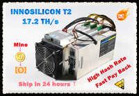 Używany INNOSILICON T2 17.2TH/s z PSU asic bitcoin BTC BCH górnik lepiej niż Antminer S9 S9j S17 T17 Whatsminer M3 M3X Ebit E10