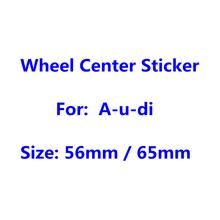 4 шт. 65 мм 56 мм автомобильные диски Пылезащитная крышка значок наклейка эмблема логотип для Audi колпачки для центра колеса стикер аксессуары ...