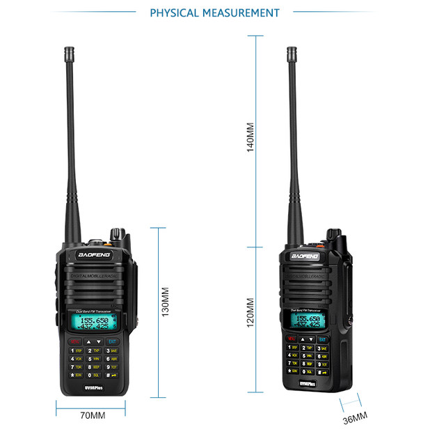 2pcs 8000mah 10W Baofeng UV-9R plus waterproof walkie talkie for CB ham radio station 10 km two way radio uhf vhf mobile plus 9r (34)