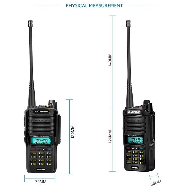 2pcs 8000mah 10W Baofeng UV-9R plus waterproof walkie talkie for CB ham radio station 10 km two way radio uhf vhf mobile plus 9r (34)
